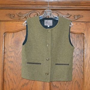 Used, IBEX 100% Wool Vest Buttons Green Lined Medium USA for sale